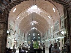 Large brick vault of Middle East bazar - Tabriz, Iran