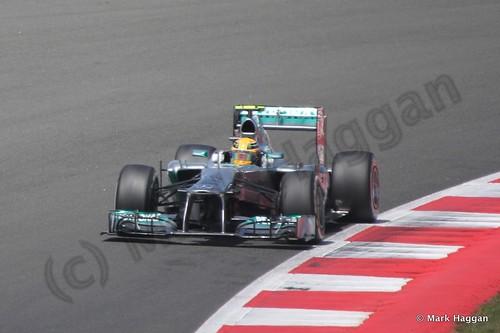 Lewis Hamilton in the 2013 British Grand Prix