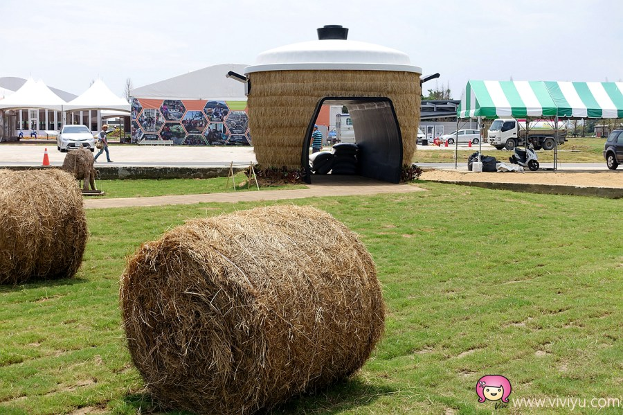 [桃園.旅遊]2017桃園農業博覽會在新屋~青創市集.藍色小精靈的家.大同電鍋放大版.生命之樹.美食攤位 @VIVIYU小世界