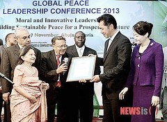 2012 11 Global Peace Leadership Conference Abuja - Chandaria - Global Peace Foundation-Kenya UN Award