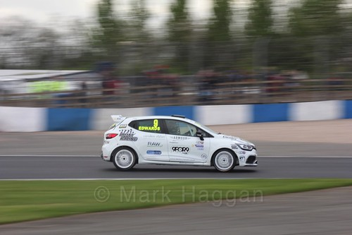Jade Edwards in Renault Clio Cup Race Three at the British Touring Car Championship 2017 at Donington Park