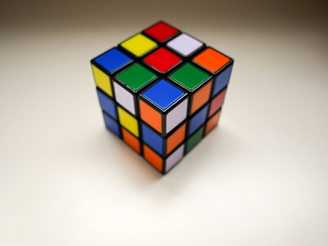 Rubik's cube of frustration.