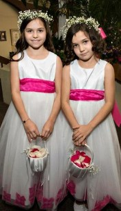 Flower Girl Crowns - Leanne and David Kesler, Floral Design Institute, Inc., in Portland, Ore.