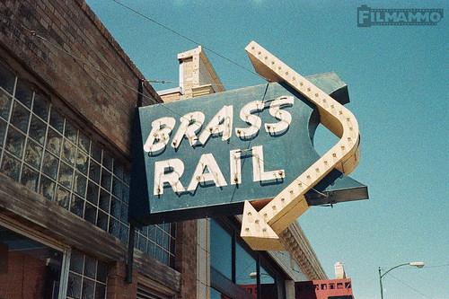 Brass Rail Sign