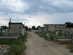 The road through the cemetery- caretakers house now gone