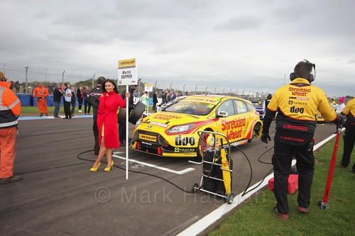 Martin Depper on the grid before race two at the British Touring Car Championship 2017 at Donington Park