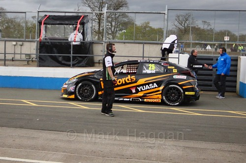 Matt Neal after race two at the British Touring Car Championship 2017 at Donington Park