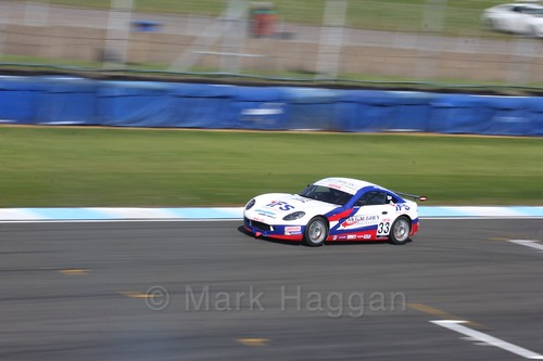 Daniel Harper in Ginetta Junior Race One during the BTCC Weekend at Donington Park 2017