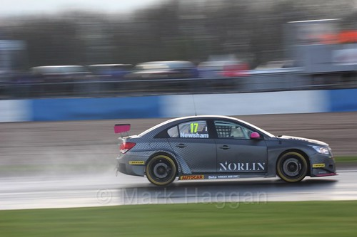 Dave Newsham in race three at the British Touring Car Championship 2017 at Donington Park