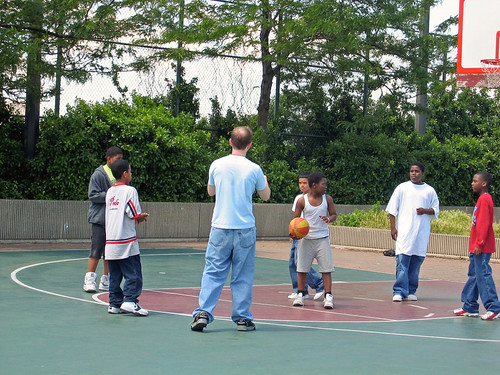 "Riverside Park Basketball Game • <a style=""font-size:0.8em;"" href=""http://www.flickr.com/photos/51688486@N04/9566012202/"" target=""_blank"">View on Flickr</a>"