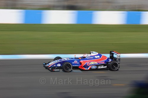 Jamie Caroline in British F4 Race One during the BTCC Weekend at Donington Park 2017: Saturday, 15th April