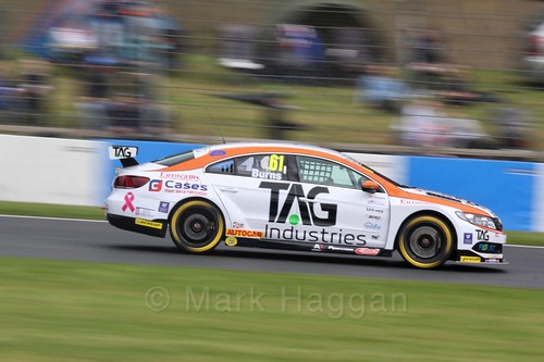 Will Burns in race One at the British Touring Car Championship 2017 at Donington Park