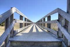 The boardwalk to Rainbow Haven, Nova Scotia