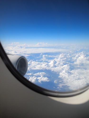 エミレーツA380ファーストクラス窓の外