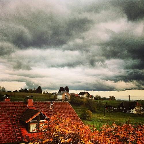 Wolkenfetzen über'n #Dachsberg