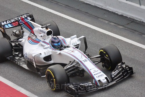 Lance Stroll in Formula One Winter Testing 2017
