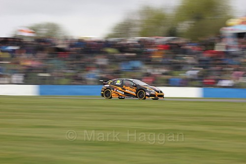 Matt Neal in race One at the British Touring Car Championship 2017 at Donington Park
