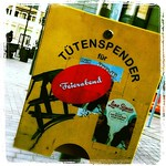 Feierabend again #luebeck #sticker #streetart #germany #tuetenspender #advert #art
