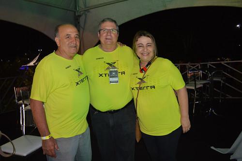 Aloísio Pinto, presidente do Simpava, Flaviano Gaggiato, da diretoria da FIEMG, e Cláia Chamon,