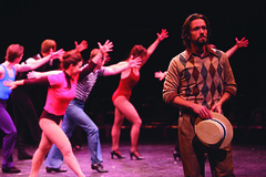 Eric Sciotto (Zach) and cast members in A Chorus Line, produced by Music Circus at the Wells Fargo Pavilion June 24 – 29, 2014. Photos by Charr Crail.