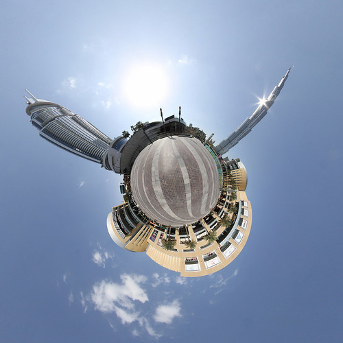 Downtown Dubai - little planet