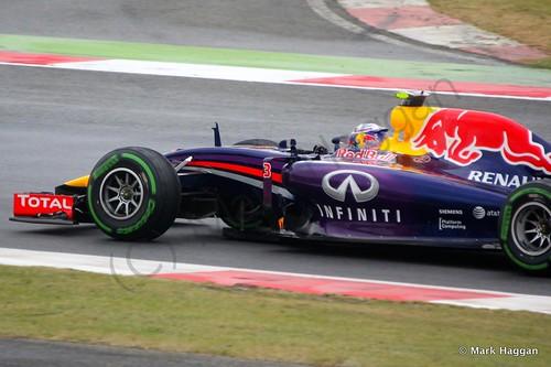 Daniel Ricciardo in his Red Bull during qualifying for the 2014 British Grand Prix