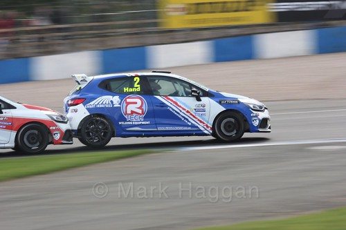 Ash Hand in Renault Clio Cup Race Three at the British Touring Car Championship 2017 at Donington Park