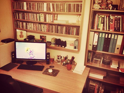 Today is all about...new desk