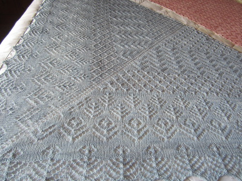 Elizabeth Shawl blocking