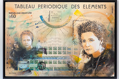 Tribute to Marie Curie by Christian Guémy (aka C215) at CEA Saclay