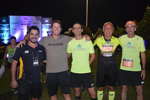 Wellington, gerente comercial do XTerra, o dono da marca no Brasil, Bernardo Fonseca, Juninho Moreira Lima, Joaquim Felício, embaixador do XTerra em Caratinga, e Geraldo Bilu
