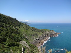 Mount Ulia to Pasaia path - coast view to San Sebastian