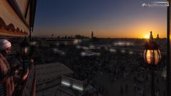 Sunset above Djema el-Fna in Marrakesh