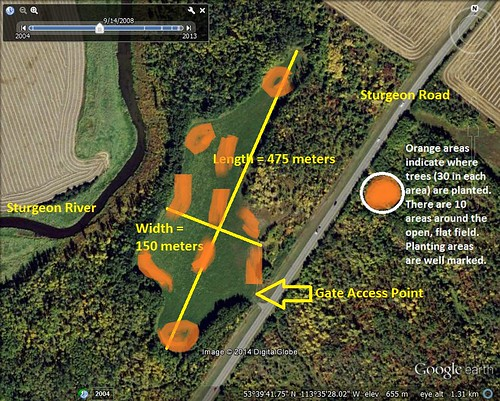 Riverlot Lower Showing Size Showing Planting Areas