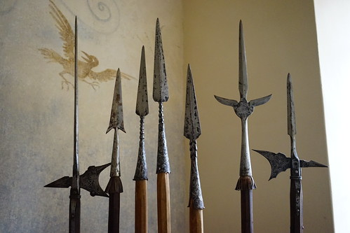 Pikes, spears, and halberds at Castle Ve by dionhinchcliffe, on Flickr