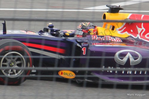 Sebastian Vettel in the 2014 German Grand Prix