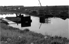 """Construction Of The New Road And Bridge (1972) • <a style=""""font-size:0.8em;"""" href=""""http://www.flickr.com/photos/36664261@N05/14055600669/"""" target=""""_blank"""">View on Flickr</a>"""