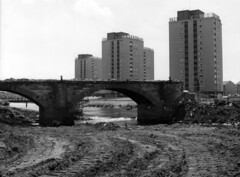 """Demolition of the Water Bridge (1972-73?) • <a style=""""font-size:0.8em;"""" href=""""http://www.flickr.com/photos/36664261@N05/14239892372/"""" target=""""_blank"""">View on Flickr</a>"""