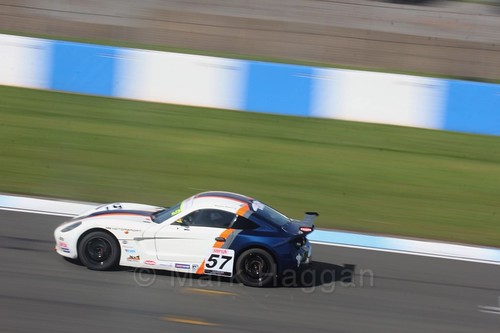 Keaton Samra in Ginetta Junior Race One during the BTCC Weekend at Donington Park 2017