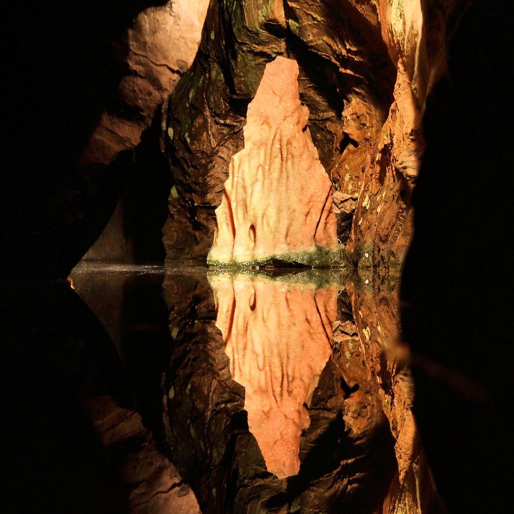 Underground alien landscape, Cox's Cave, Cheddar
