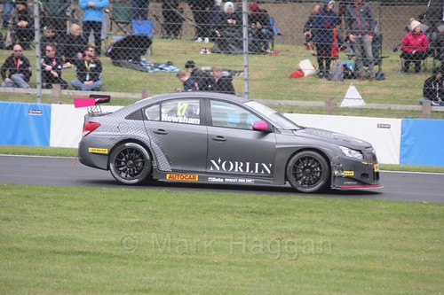 Dave Newsham in race one at the British Touring Car Championship 2017 at Donington Park