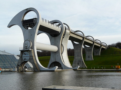 Falkirk Wheel and aquaduct