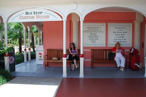 Caribbean Beach Resort Custom House bus stop