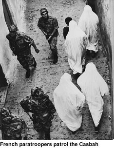 A scene from Gillo Pontecorvo's THE BATTLE OF ALGIERS (1965)