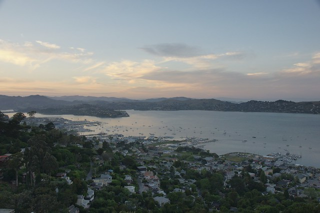 late afternoon above Richardson Bay, Sausalito, CA