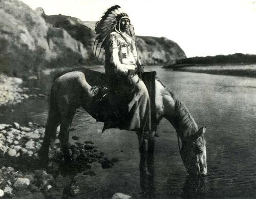 Blackfoot Chief at Bow River