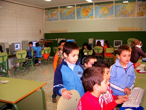 En el aula de informática
