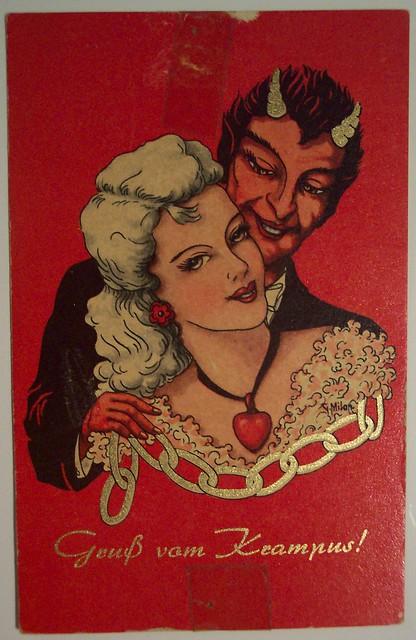 Vintage Christmas Postcard Krampus Flickr Photo Sharing