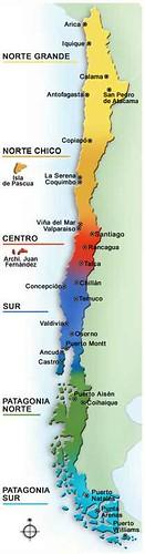 Mapa do Chile - mapa de Chile - map of Chile