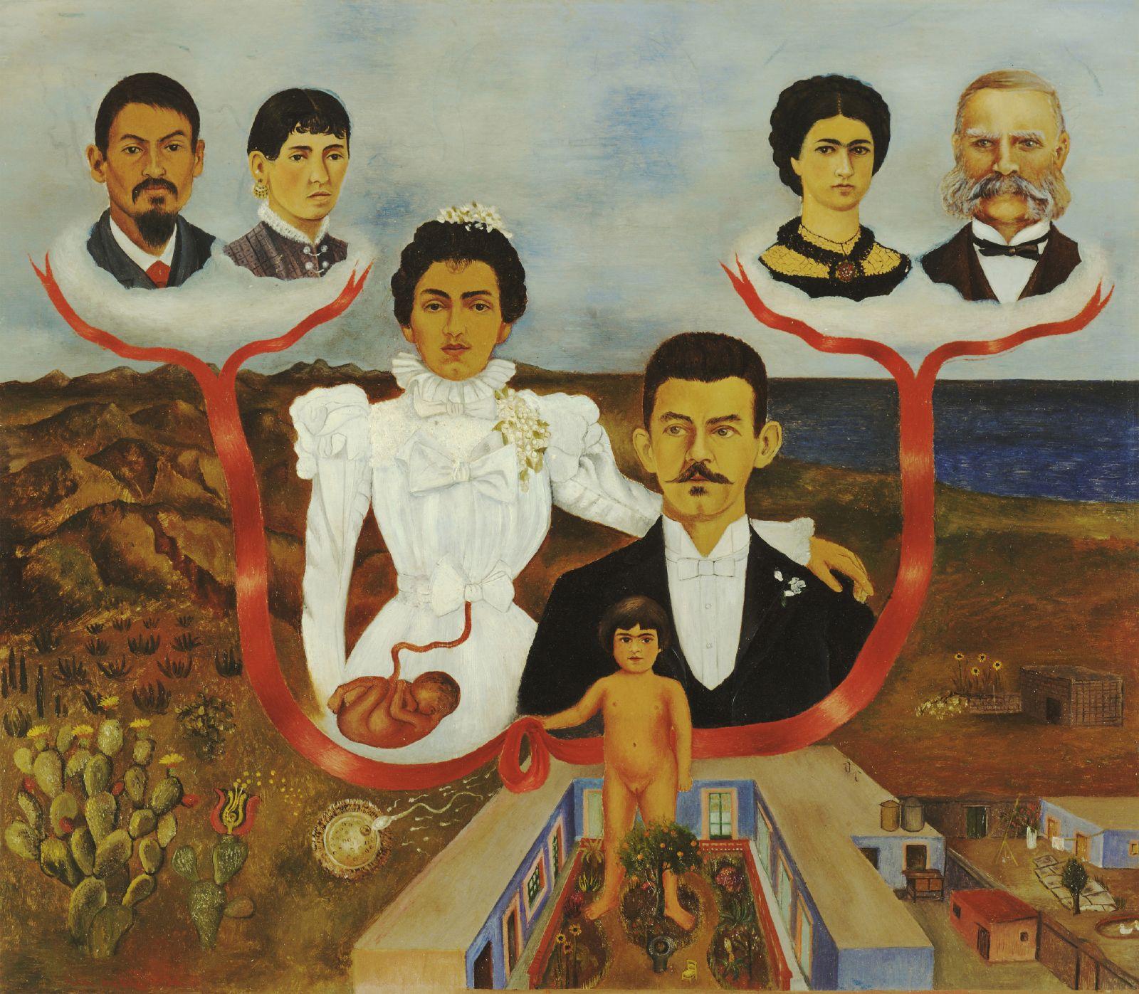 Mis abuelos, mis padres y yo (1936) Frida Kahlo